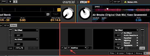Serato Video also allows you to animate text by clicking the Text Effects button underneath the main output display.