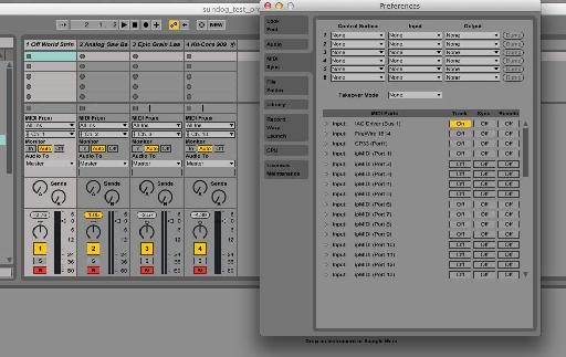 Figure 1 – Configuring Instruments and MIDI in Ableton Live