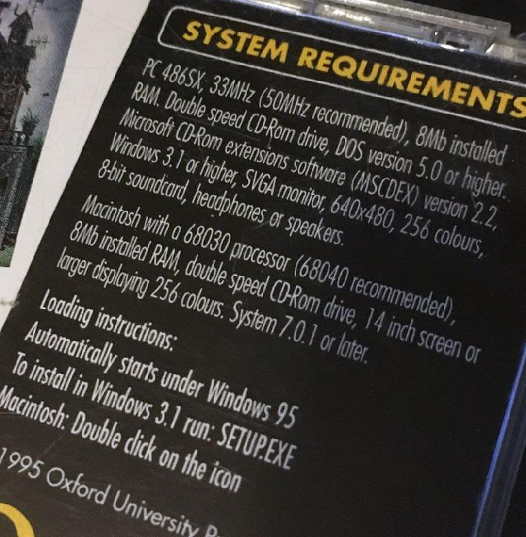 Even ancient system requirements like this shouldn't pose too much trouble, thanks to emulation.