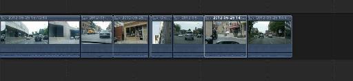 Timeline clips.