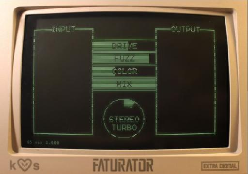 Faturator's interface: Simple but effective !