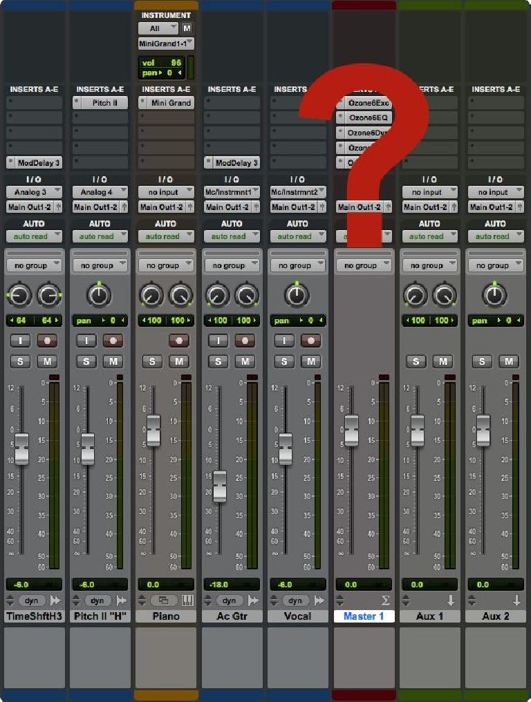 Master bus processing—while mixing or only in mastering?