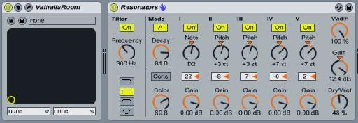 Placing Resonators after a long reverb tail is a great way to make thick, drone-style atmospheres.