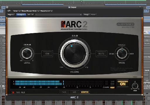 ARC2's master section gives you some extra control over your monitors.