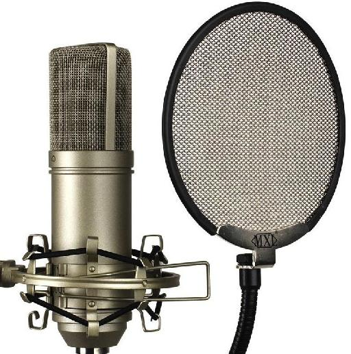 Fig 5: A Pop Filter in front of a vocal mic