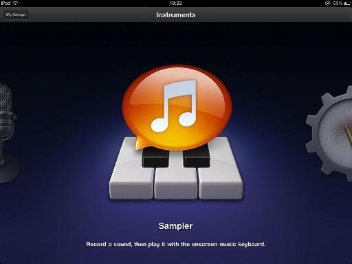 GarageBand for iPad's Sampler
