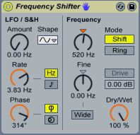 The Frequency Shifter is a great sound design tool.