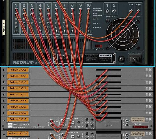 Repeating the routing from all Mix channels and Redrum outputs