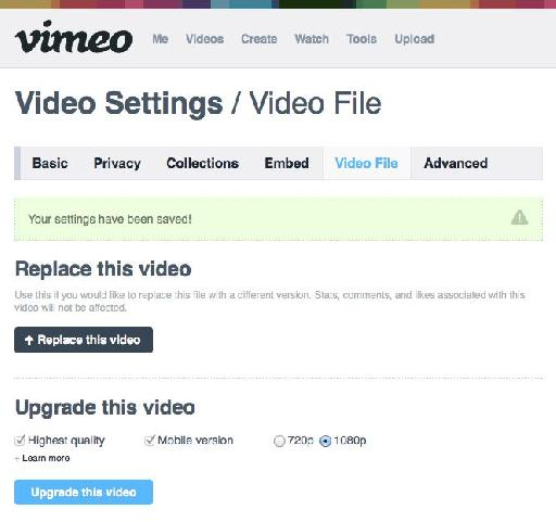 Upgrade your video if you want to enable 1080p playback.