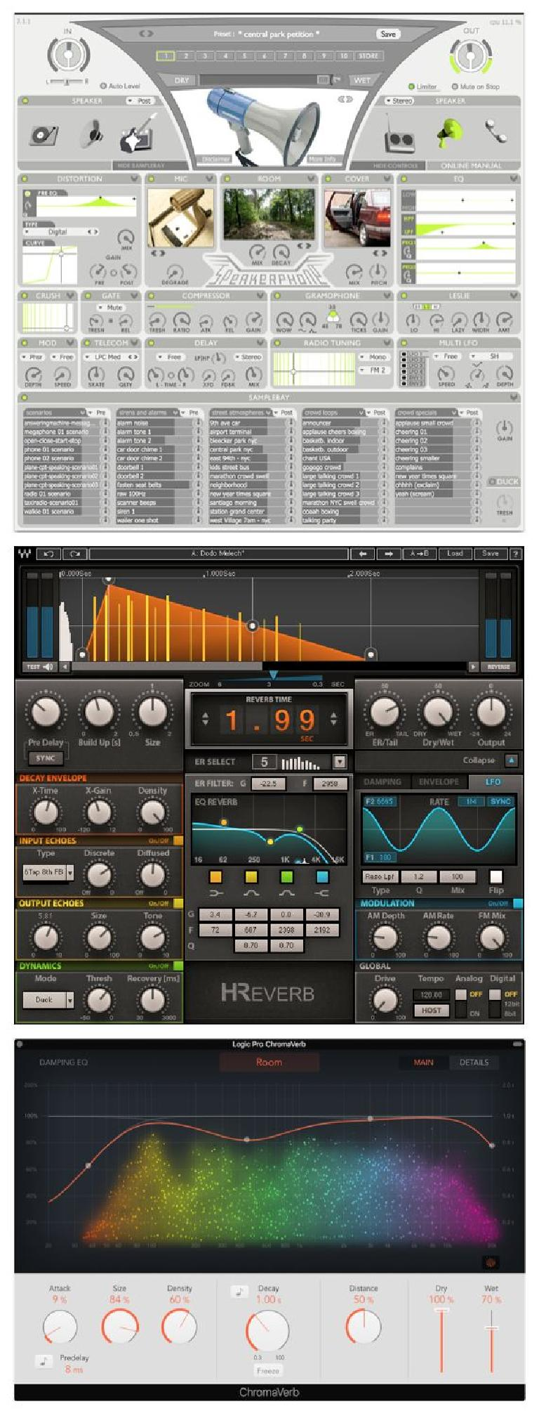A specialty convolution plug-in and fx-capable algorithmic reverbs