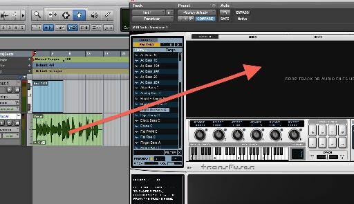Drag and drop from audio tracks in Pro Tools' Edit window
