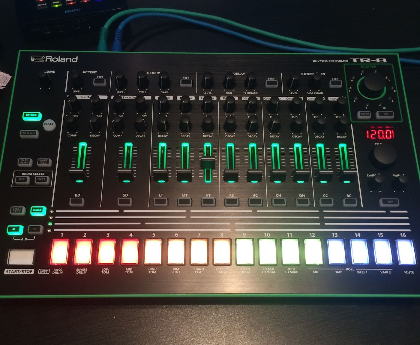 Whistle Back programmed the drums for his remix using the Roland AIRA TR-8.
