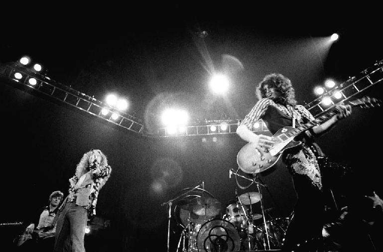 Led Zeppelin, actually inventing heavy metal in this picture.
