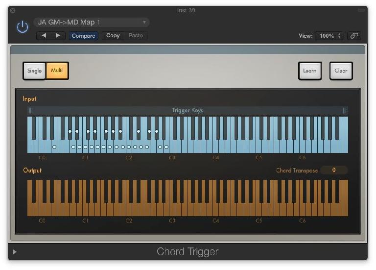 """Fig 7 The """"Chord Trigger"""" MIDI plug-in can easily remap drums for any drum instrument, as an alternative to the DKD kits."""