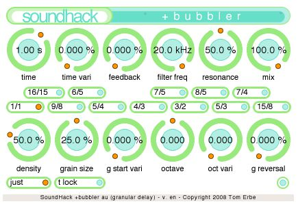 Soundhack: more bubbles than Alizé?