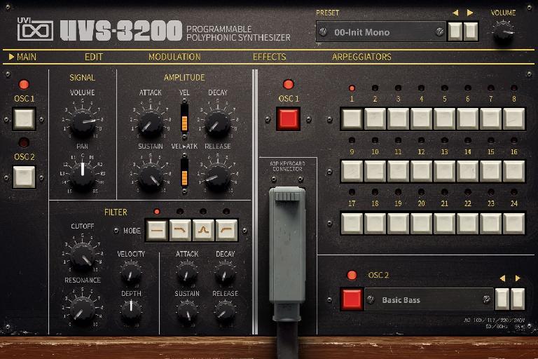 UVS-3200 main page.