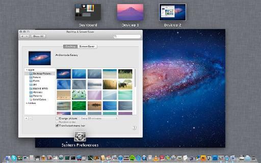 Desktops in Mission Control