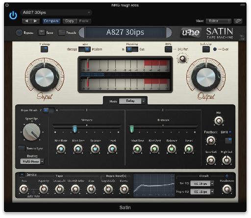 U-he Satin Analog tape machine style plug-in