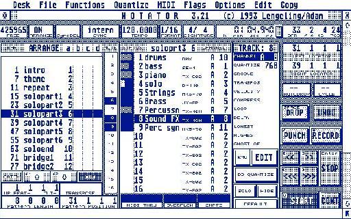Notator on the Atari