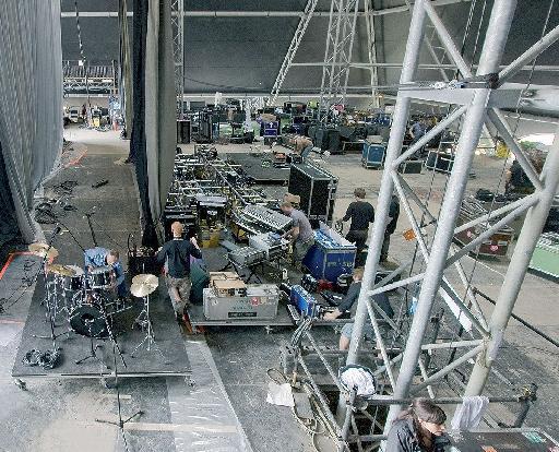 Behind the scenes at Glastonbury 2013.