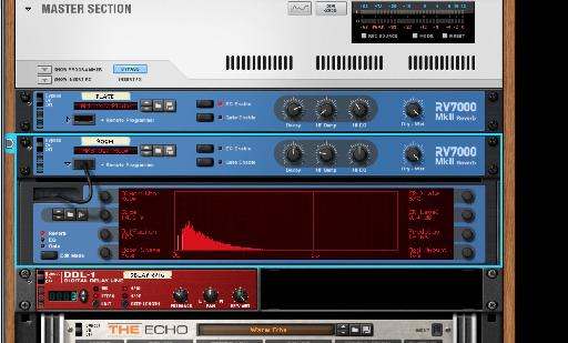 The refreshed reverb in Reason 8.3.