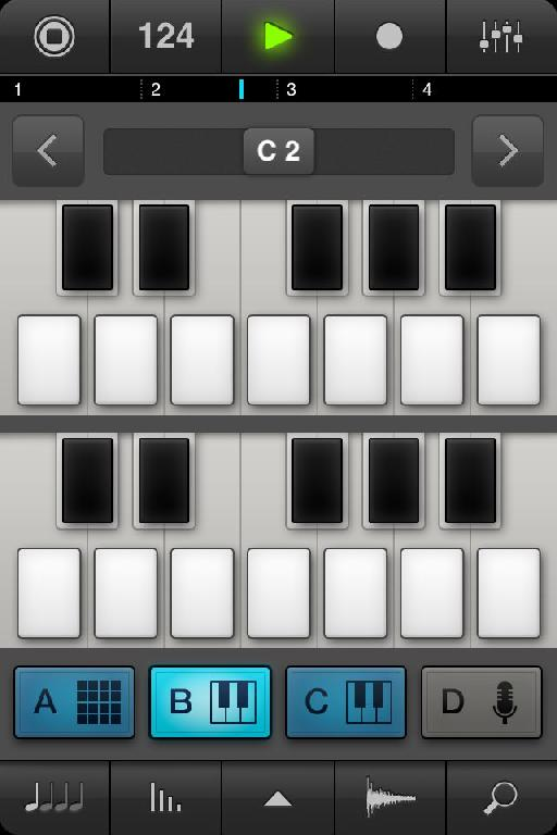 Synth parts can be programmed via the mini keyboard