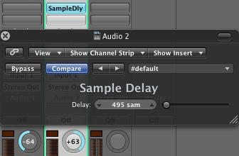 A typical set up in Logic Pro for quick and easy ADT