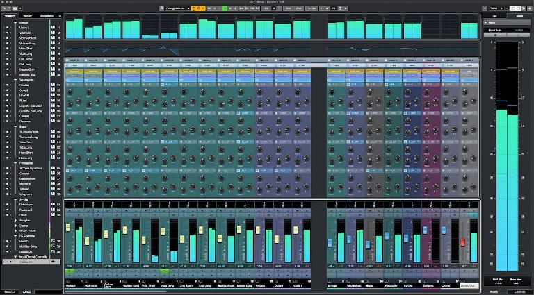 Cubase 10.5: Colorized Mix Console