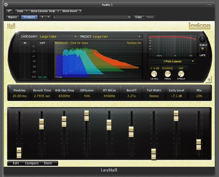 (Pic 2) The Lexicon PCM collection is a great example of a high quality, software based algorithmic reverb.