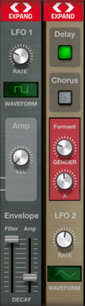 Propellerhead have included easy ways to expand and collapse areas of the interface.