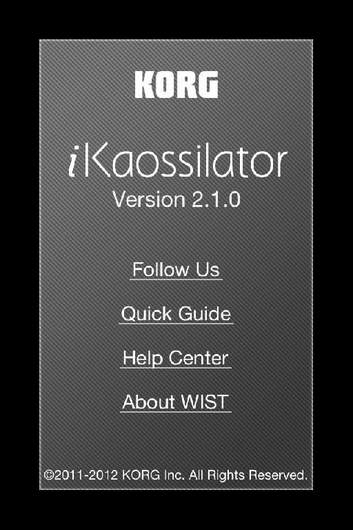 version 2.1 of iKaossilator