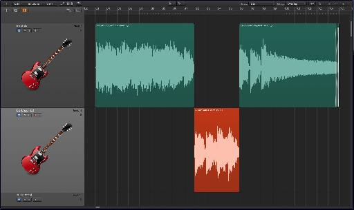 Fig. 4 A punched-in audio region ready to be processed by Match EQ.