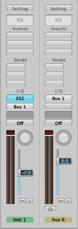 Bus 1's output set to 'None'