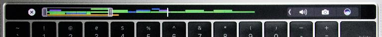 Yep, that's a whole timeline in the touch bar!
