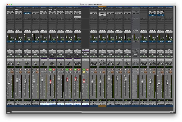 Fig 1 Pro Tools with some of the formerly-HD-only features in use