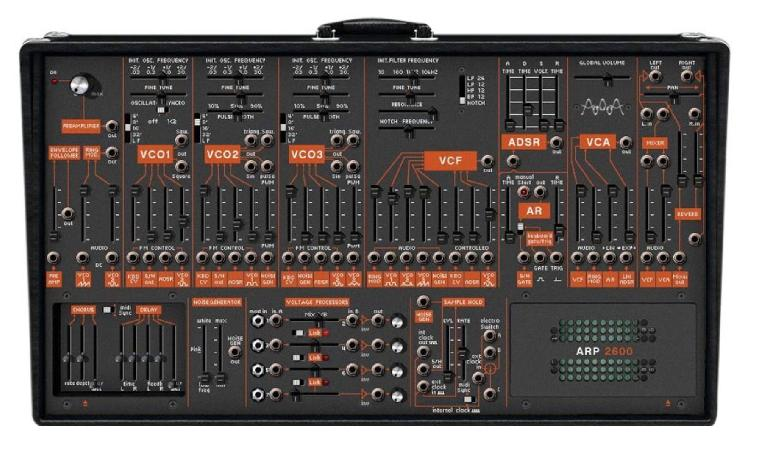 Figure 3: a digital re-creation of the ARP 2600 by Arturia