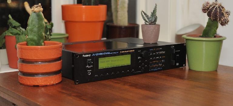 Legowelt's Roland JV-2080 digital synthesizer.
