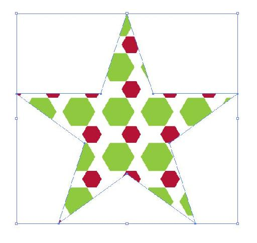 Star with pattern