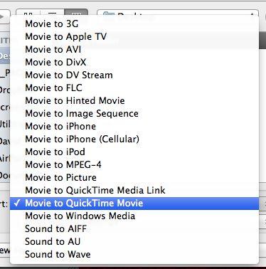 Choose Movie to Quicktime Movie