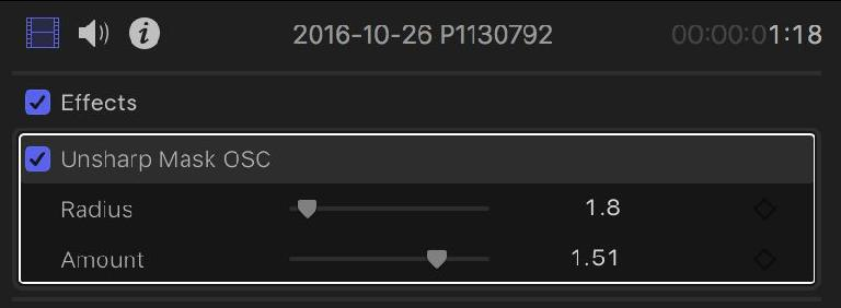 These parameters can't be edited in FCP X, though they change when you drag the on-screen controls