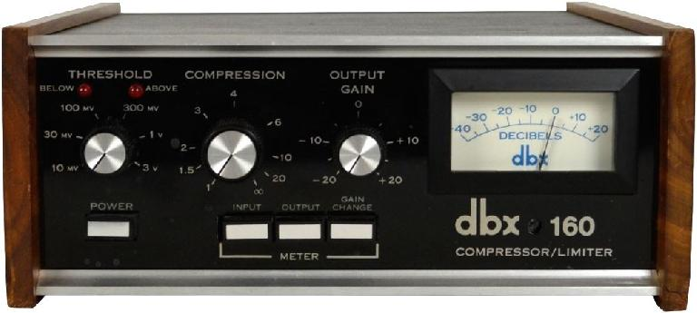 The dbx 160 VCA compressor