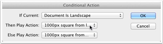 The 'Then Play Action item is, of course, your 'landscape' action.