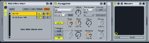 Arps in parallel - Arp 1 settings