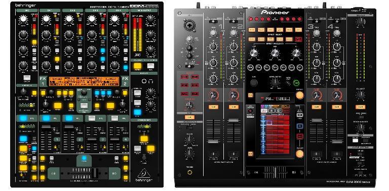 Behringer DDM-4000 (L) & Pioneer DJM-2000-nexus (R)