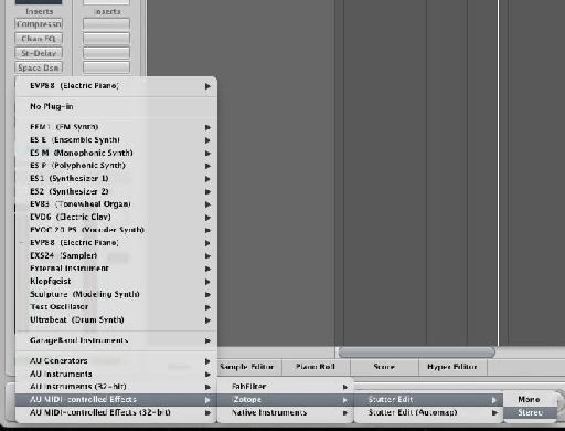 Creating a new Stutter edit instrument in Logic Pro 9
