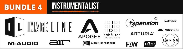 Bundle 4 - Instrumentalist - Image Line, Apogee, FabFilter, expansion, ModeAudio, M-Audio, air Instruments, Native Instruments, u-he