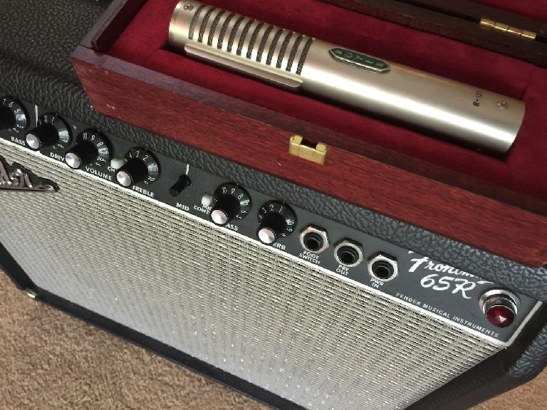 Royer Mic and Fender amp.