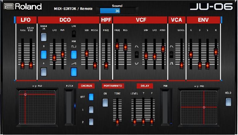 Roland Boutique JU-06 MIDI Editor