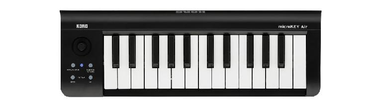 Korg MicroKey is a bluetooth MIDI keyboard controller.