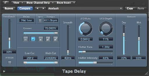 Logic's Tape Delay
